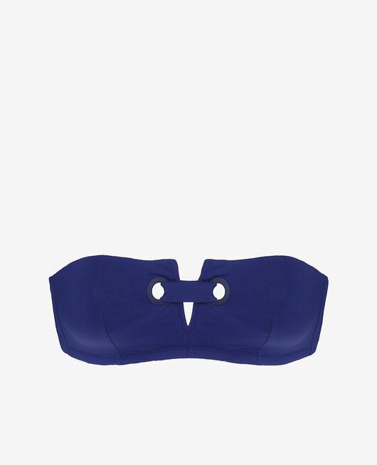 Maillot de bain bandeau sans armatures Bleu mascara Impala