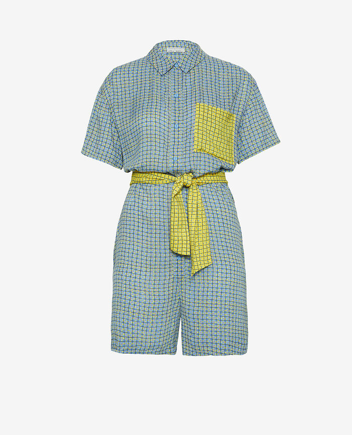 Combi-short Carreaux bleu Vacanze