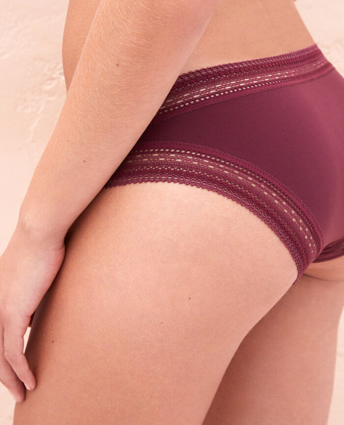 Culotte taille basse Rouge cassis Eclat