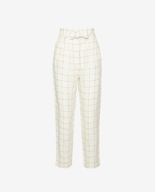 Pantalon Carreaux Chic lin