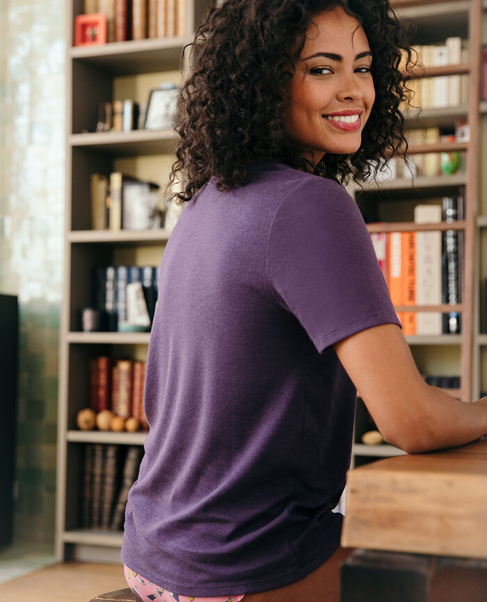 T-shirt manches courtes Bleu cabaret Dimanche