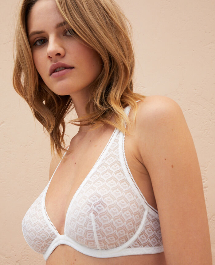 Underwired triangle bra Ivory Encens