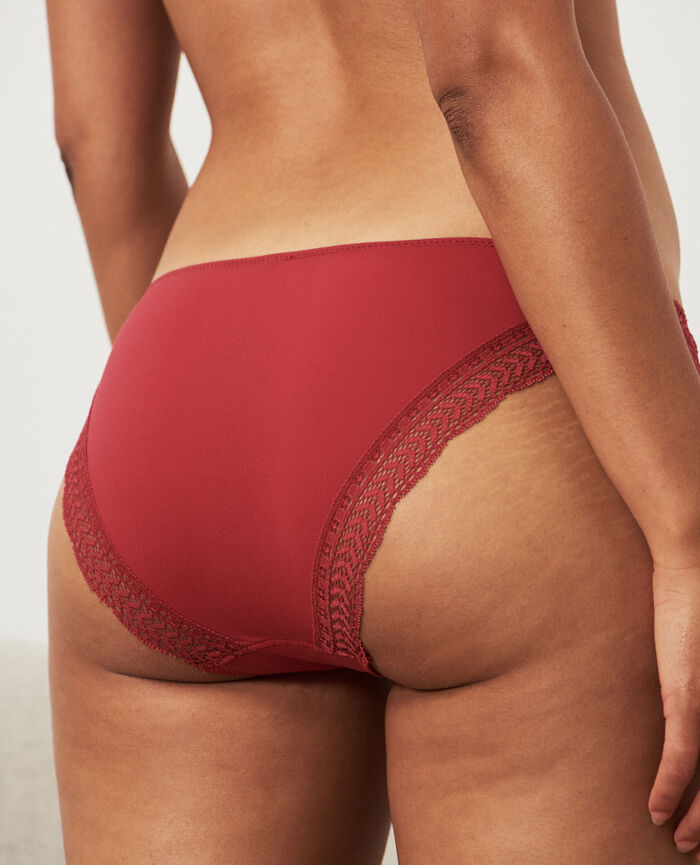 Culotte taille basse Rouge rubis Duo