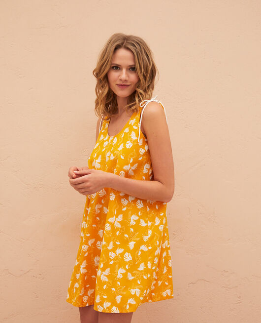 Short nightie Hammam yellow Bahia
