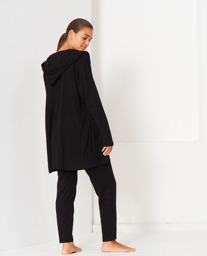 Cardigan manches longues Noir Heattech® lounge