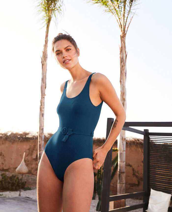 Swimsuit Sombrero blue Couture