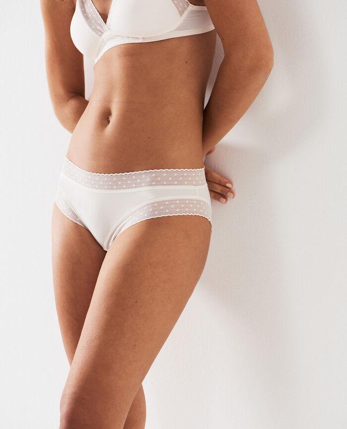 Culotte taille basse Blanc rosé Infiniment