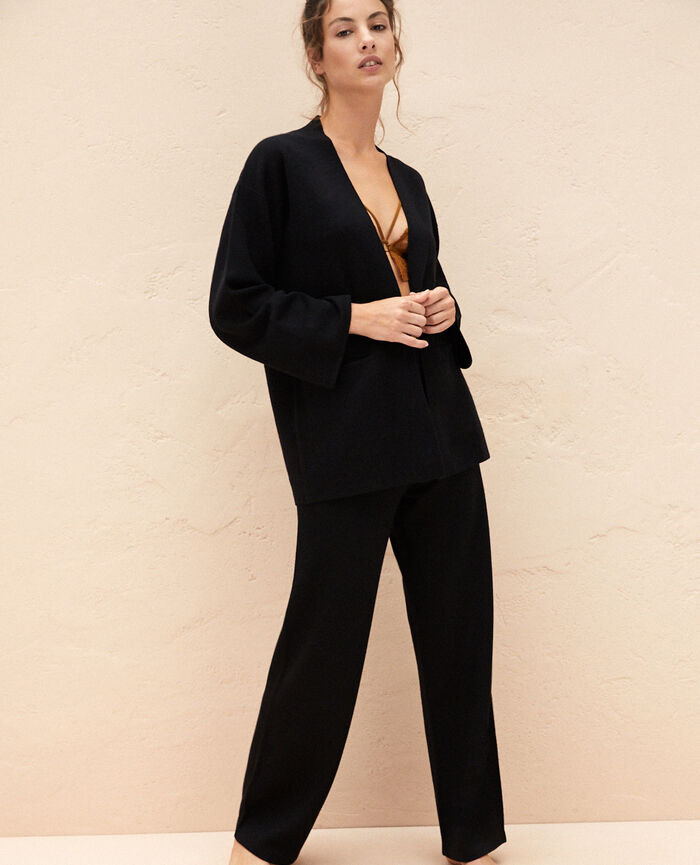 Cardigan manches longues Noir Inspiration
