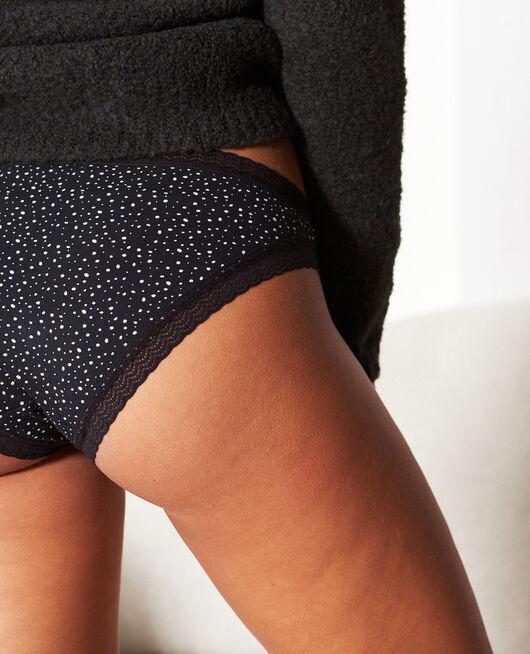 Culotte taille basse Flocon noir Echo
