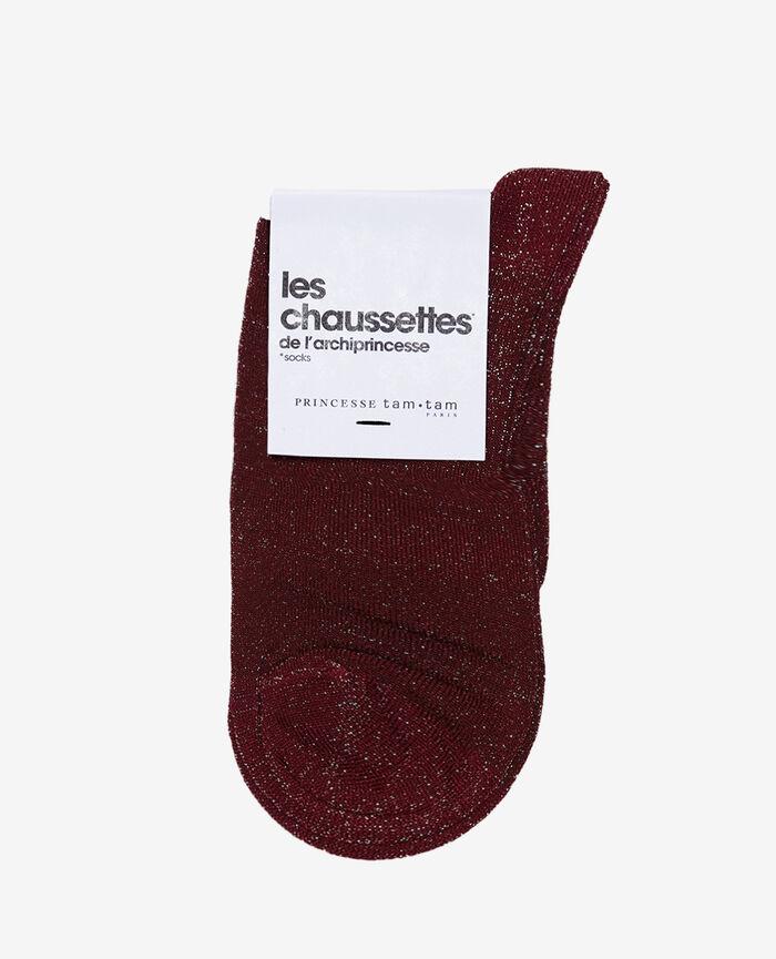 Chaussettes Rouge cassis Diamond