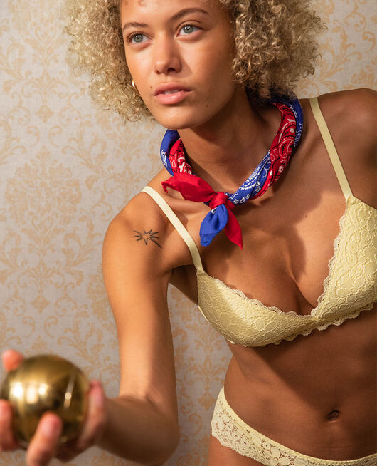 Soft cup bra Swan yellow Paquerette