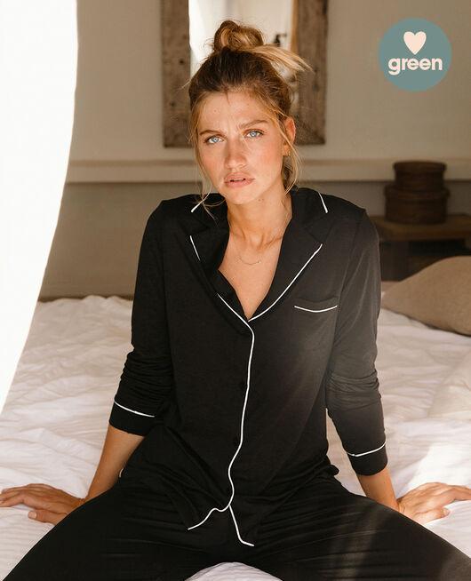 Veste de pyjama Noir Latte organic