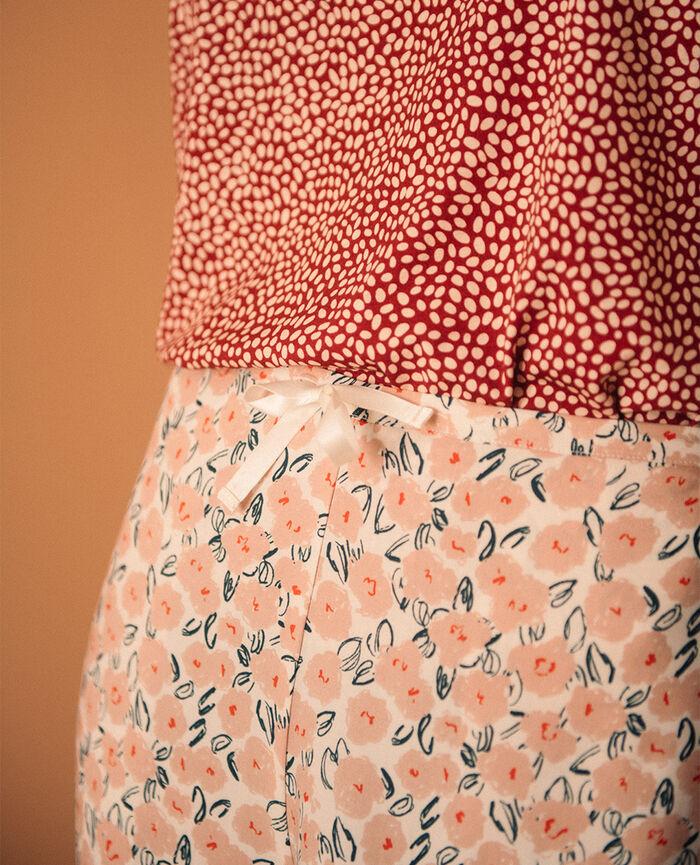 Pantalon large Déclaration rose matinal Relax viscose