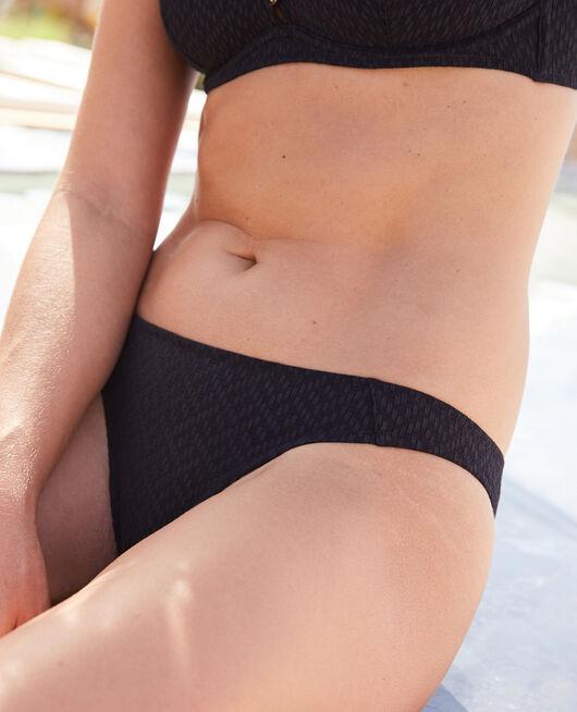 Culotte de bain échancrée Noir Allure
