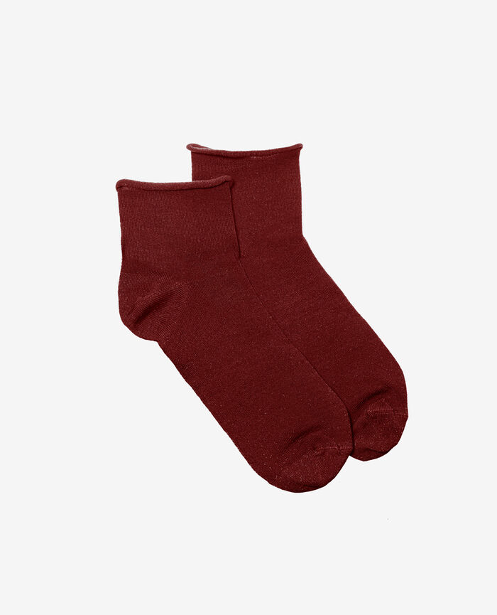 Chaussettes Rouge cuir Pearl