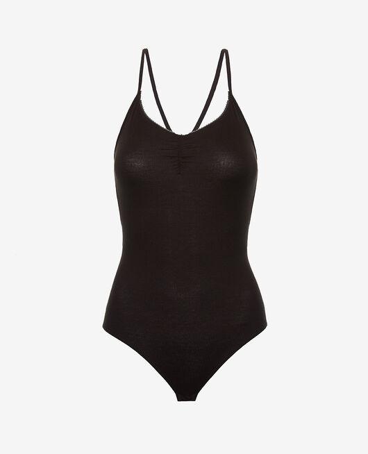 Sleeveless body Black Heattech© lovely