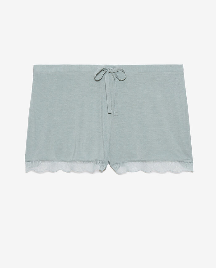 Short de pyjama Vert amande Douceur