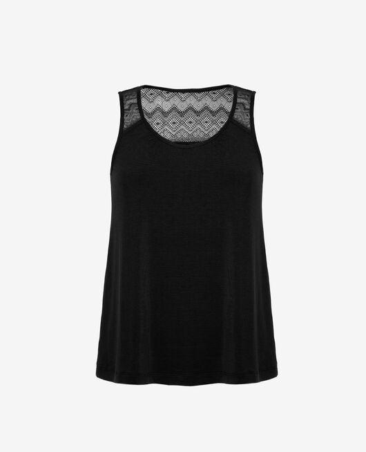 T-shirt sans manches Noir Douceur
