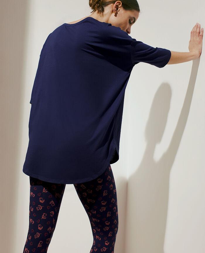 T-shirt manches longues Bleu marine Top collection