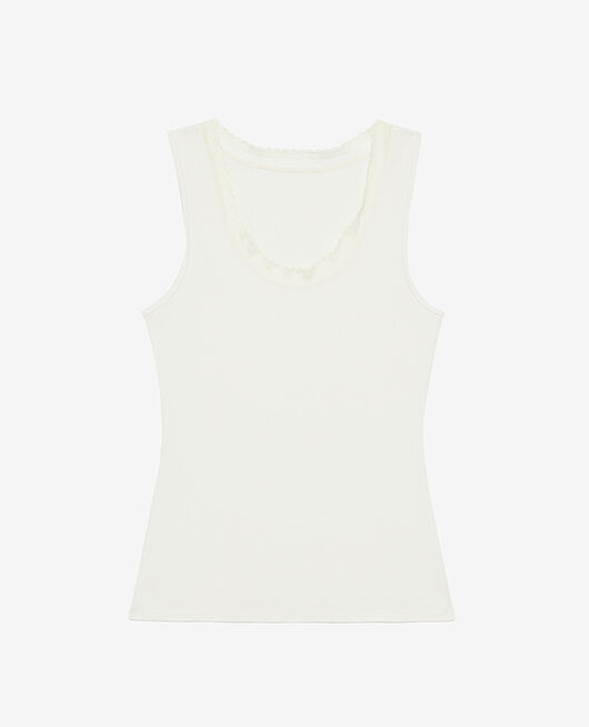 Vest top Cream white Heattech® extra warm