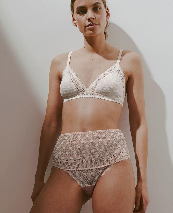 Culotte taille haute Beige poudre Confetti