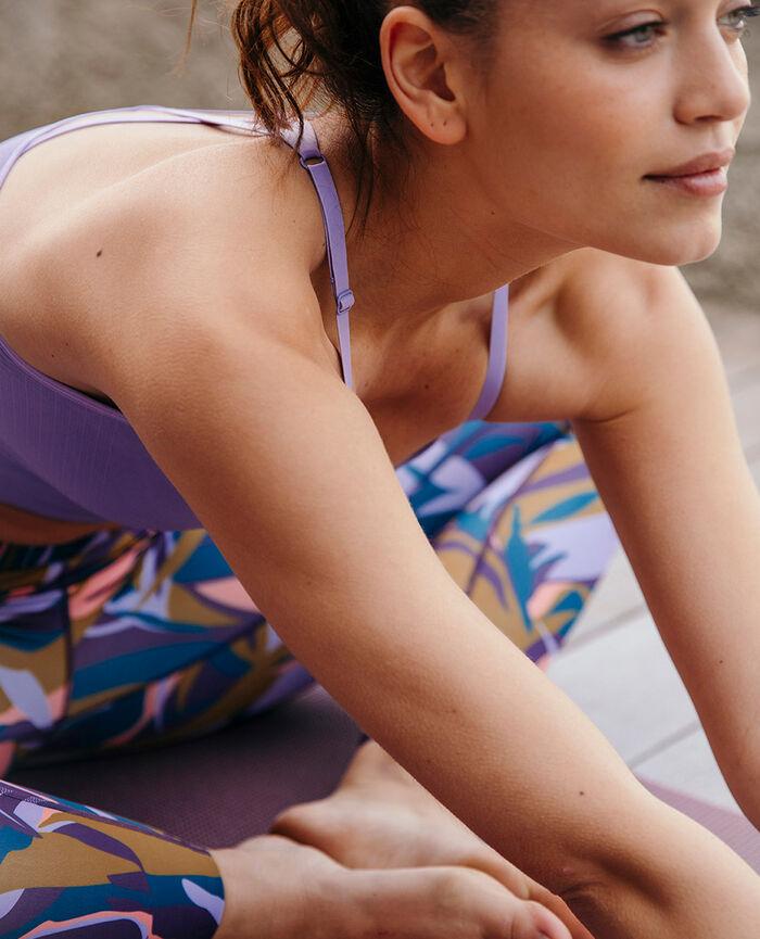 Sports bra light support Fantaisie violet Yoga