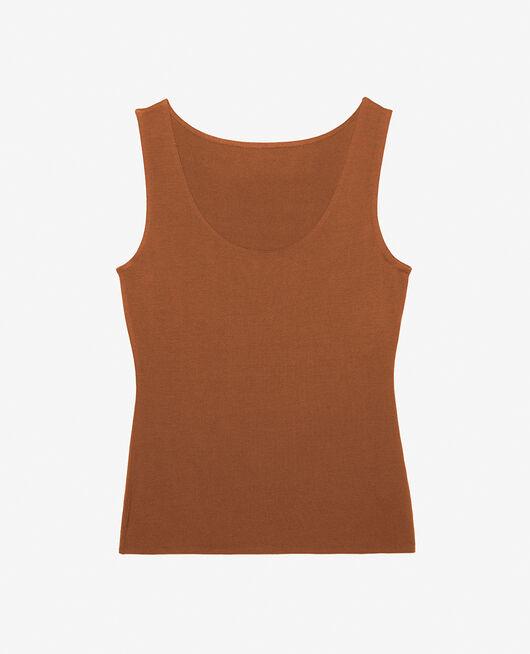 T-shirt sans manches Brun muscade Inner heattech