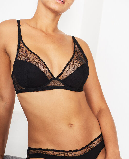 Special demi push-up bra Black Prestige
