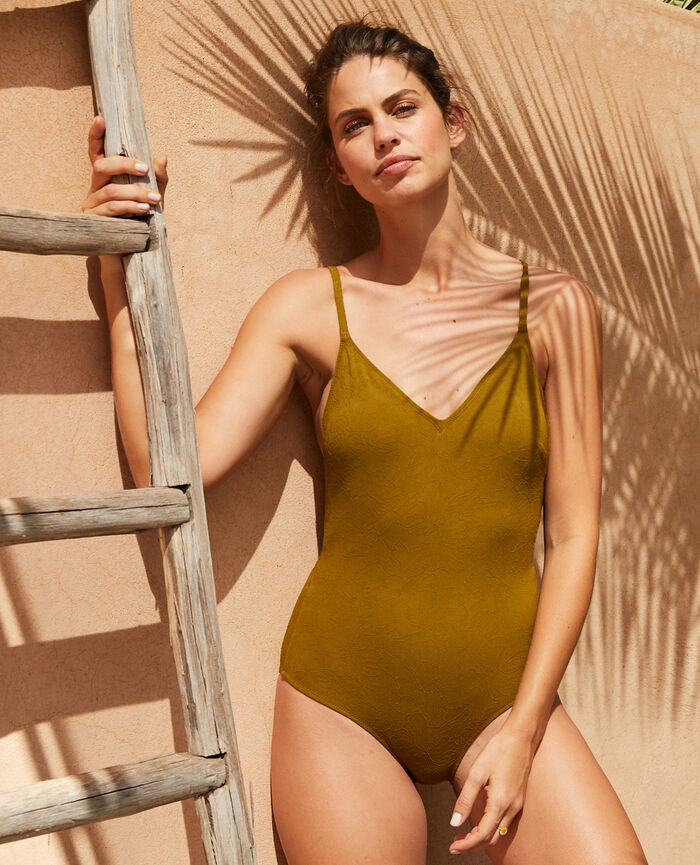 Swimsuit Green bowie Pompon