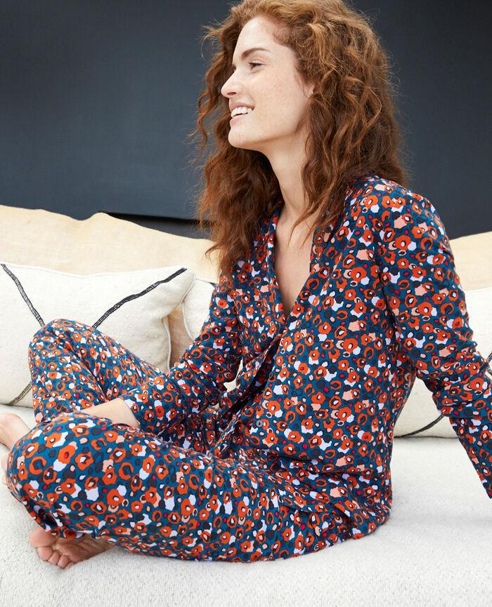 Veste de pyjama Leo bleu Crepuscule