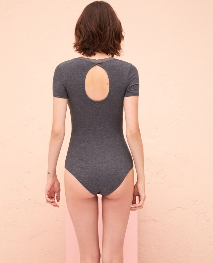 Body dos ouvert Gris anthracite Lovely