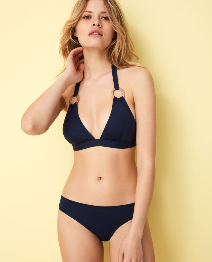 Triangle bikini top Navy Isaia