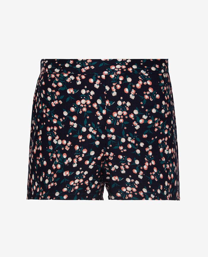 Pyjama shorts Flowers blue Tamtam shaker
