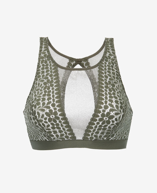 Soft bustier bra Casbah green Monica