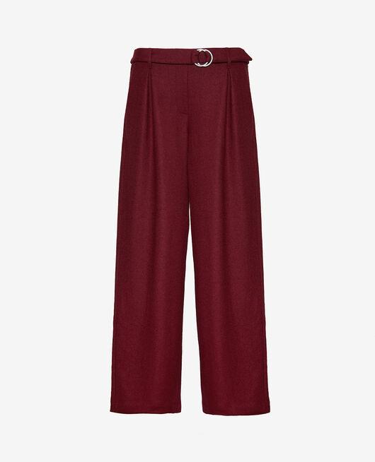 Pantalon large Rouge cassis Perspective