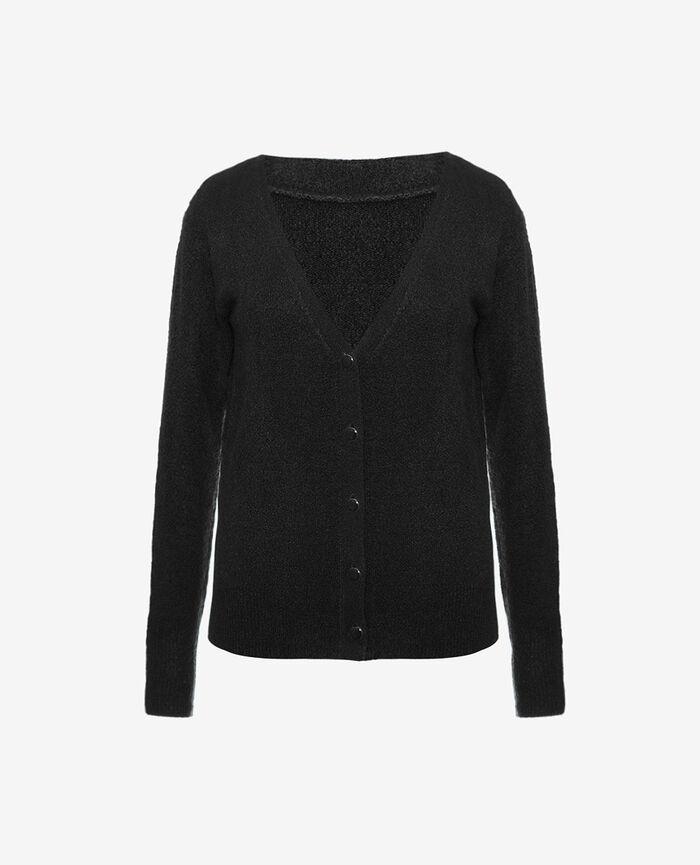Long-sleeved cardigan Black Sweet