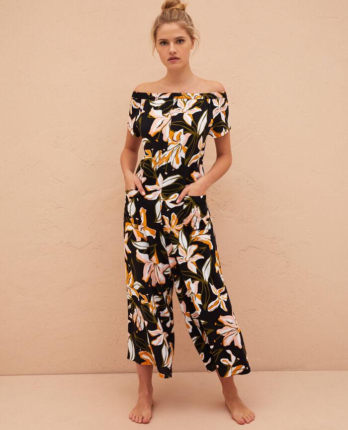 Combinaison pantalon Pétale noir Gazelle