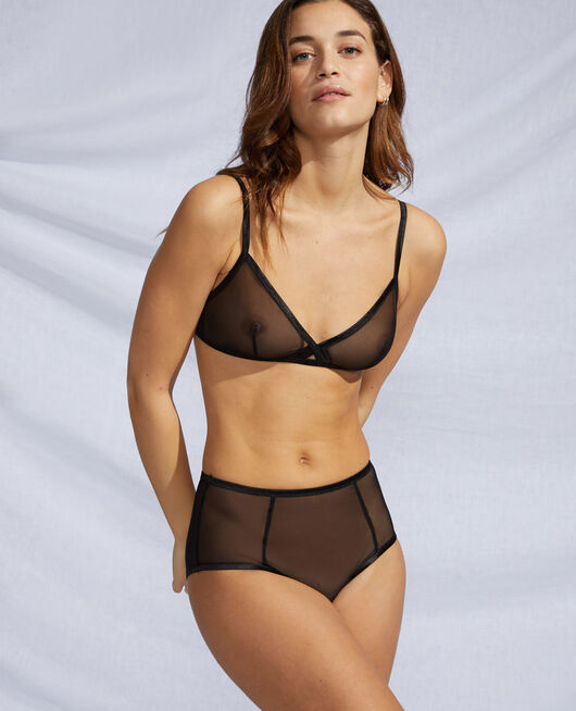 Soft cup bra Black Pure