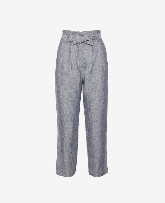 Trousers Navy Chic lin