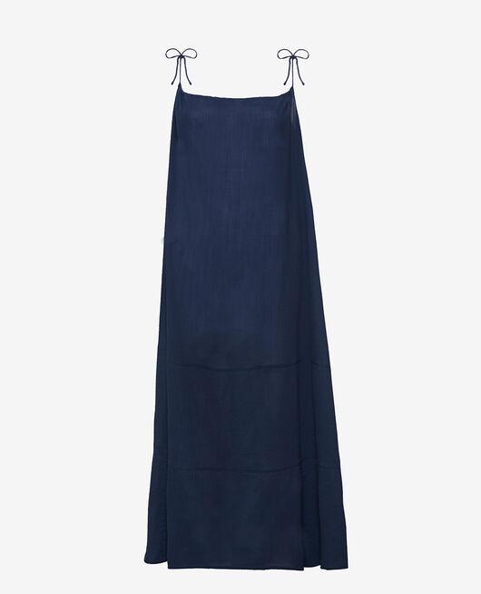 Robe longue évasée Bleu nuit Mellah