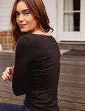 Long sleeved top Black Heattech© lovely