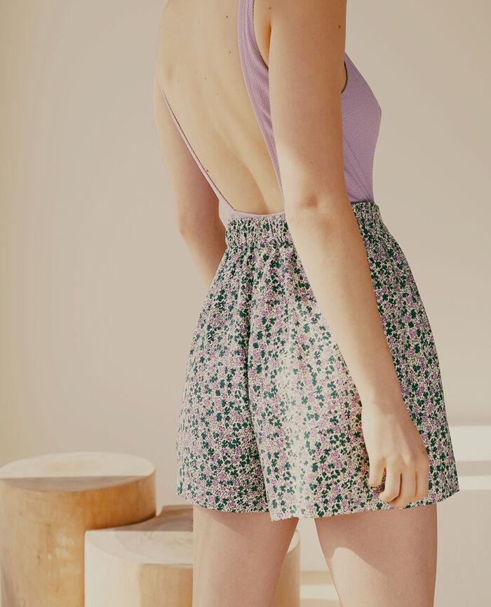 Short de pyjama Idylle vert jardin Fancy viscose