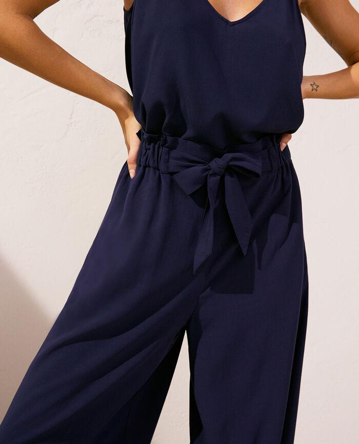 Pantalon Bleu marine Lounge viscose