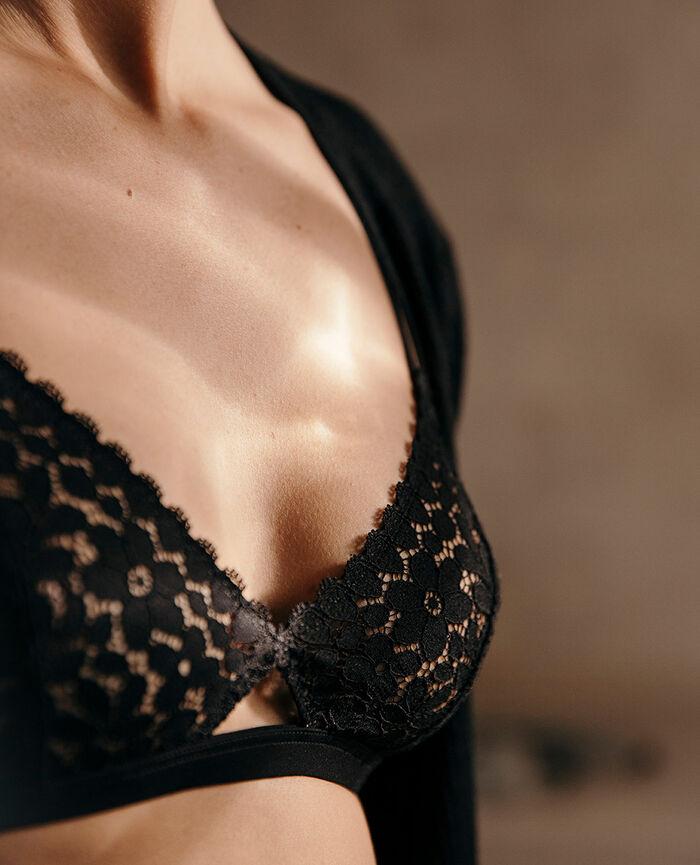 Soft cup bra Black Monica