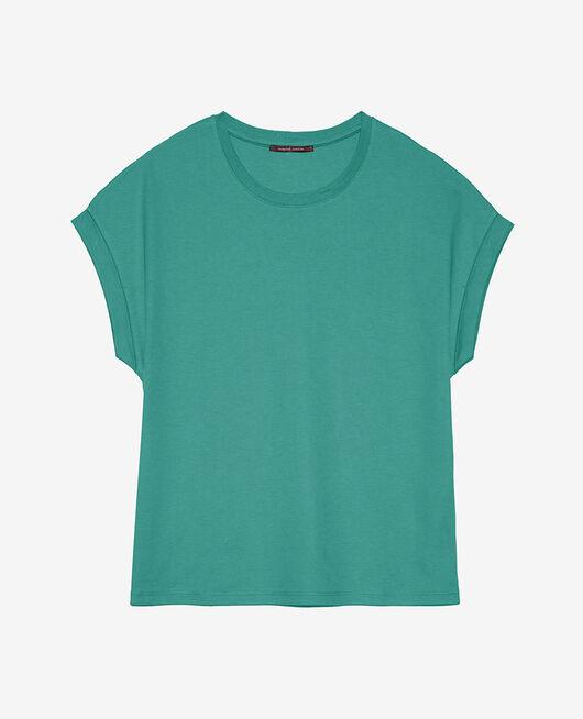 T-shirt manches courtes Vert émail Supima