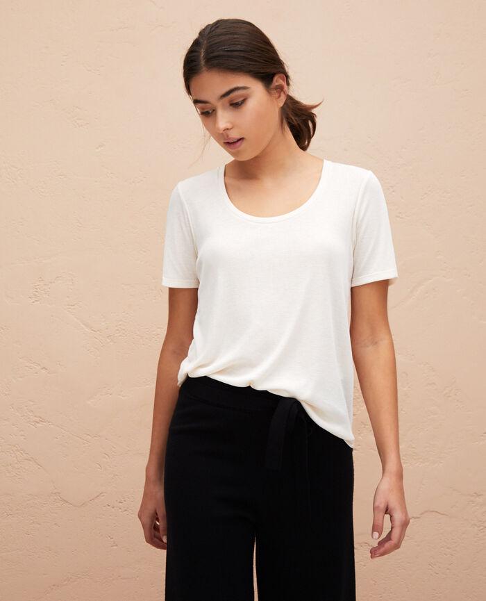 T-shirt manches courtes Blanc rosé Latte