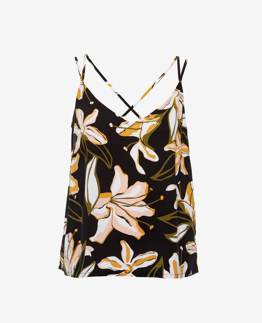 Vest top Petal black Gazelle