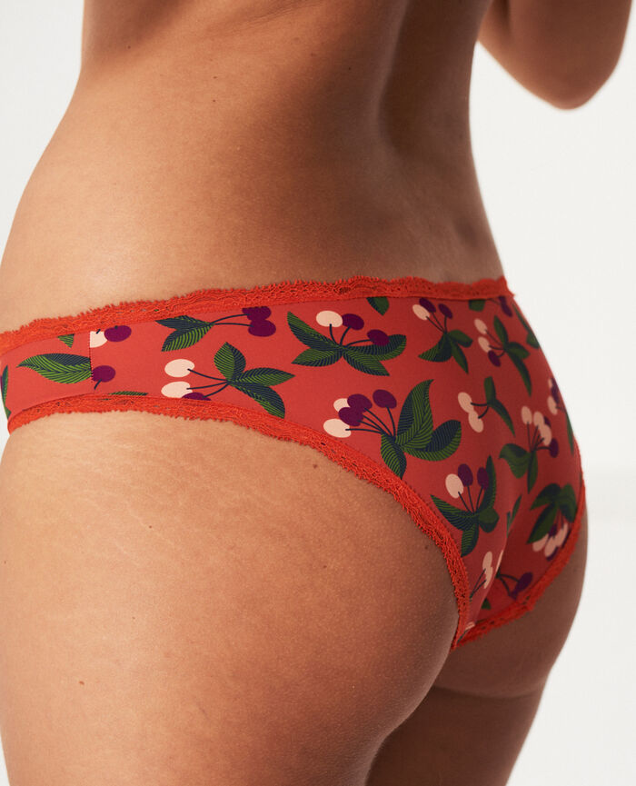 Culotte taille basse Cerise rouge tangerine Take away