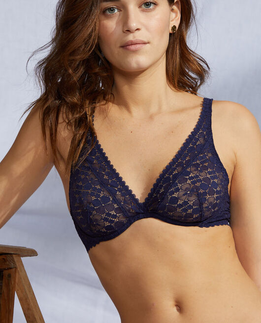Underwired triangle bra Navy Josephine