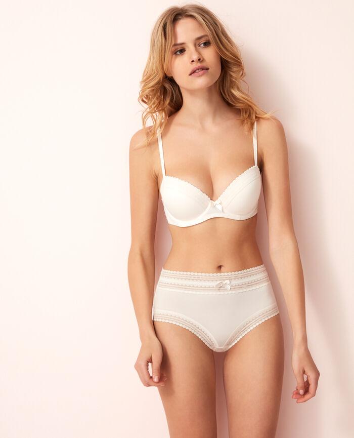 Progressive-cup push-up bra Rose white Beaute